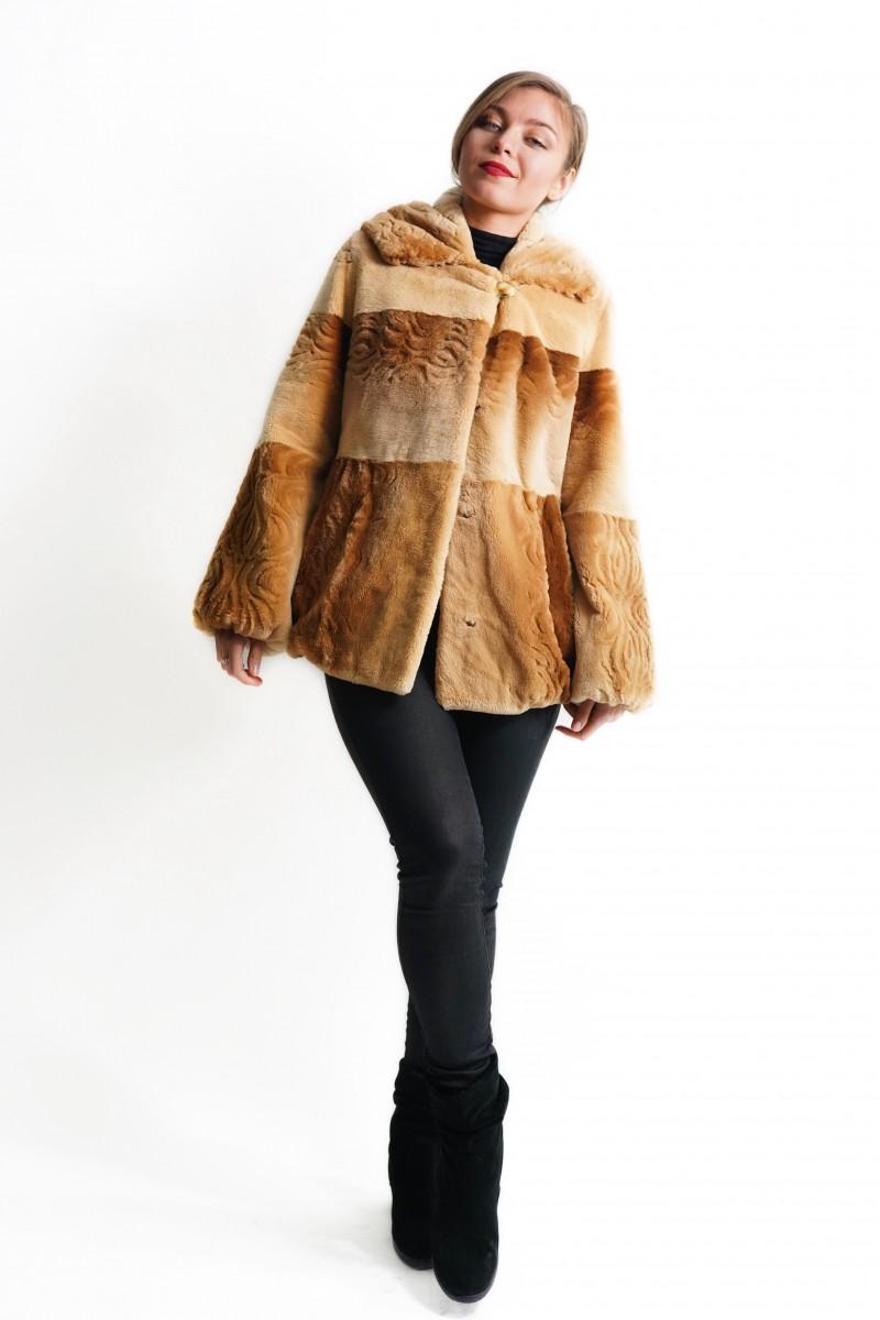 #165 Ζακέτα Beaver με Κουκούλα