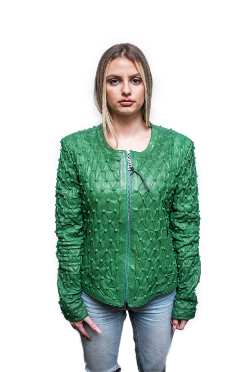 #827 Δερμάτινο Jacket